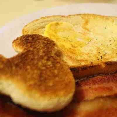 Disney Inspired Egg-in-a-Hole with Mickey Toast
