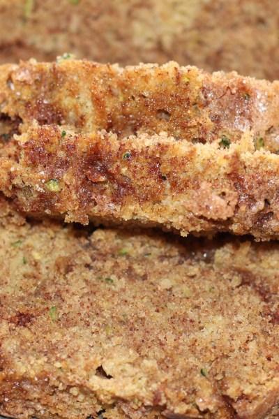 Snickerdoodle Zucchini Bread with Coconut Oil