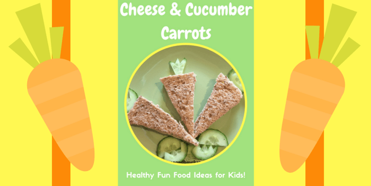 cheese and cucumber carrot snack fun for easter