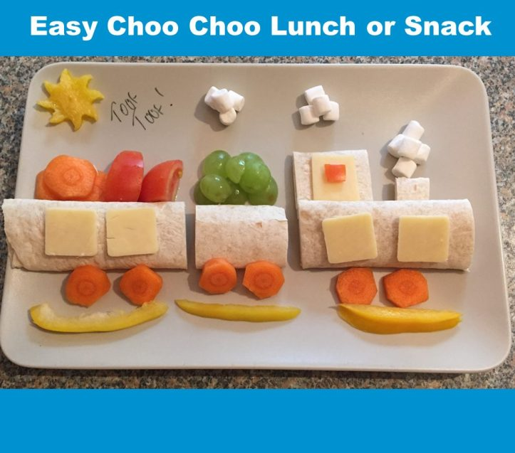 choo choo train lunch wrap sandwich snack