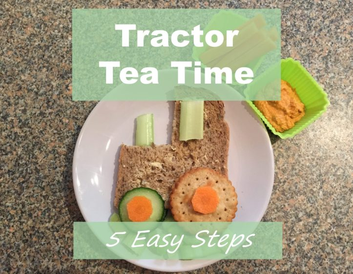 healthy food made fun for toddlers and children tractor tea time lunch meal snack