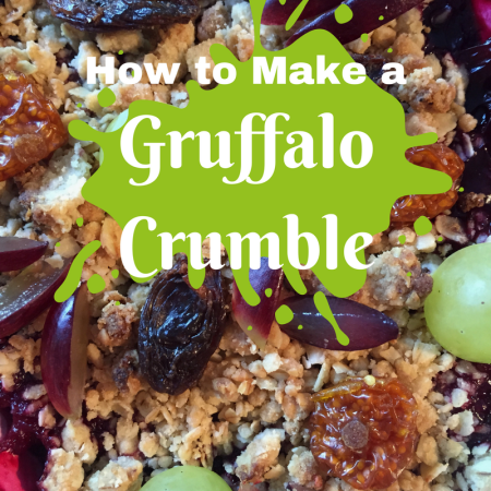 how to make bake cook gruffalo crumble childrens book fun food ideas