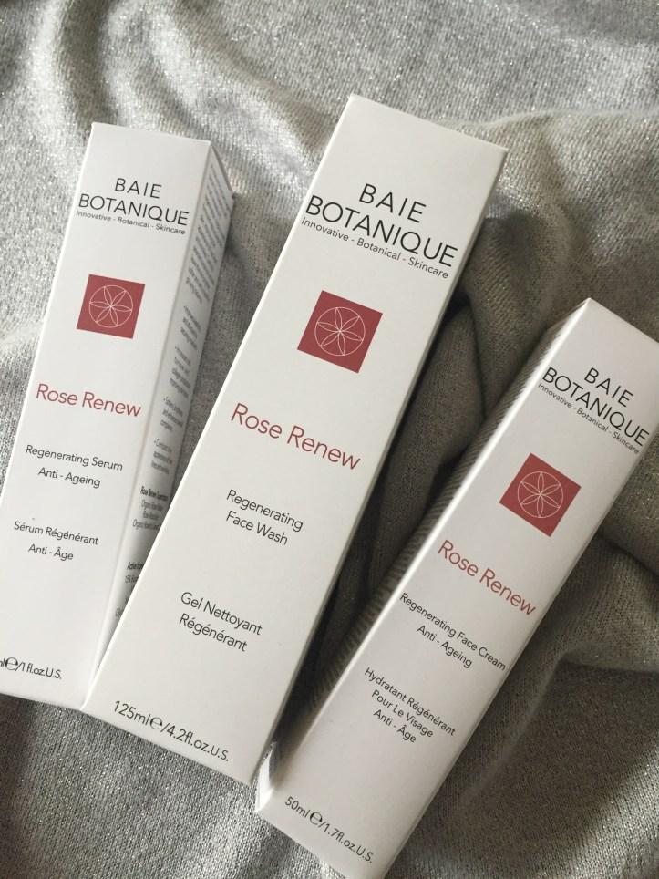 rose baie botanique rose renew serum face wash anti aging moisturiser review