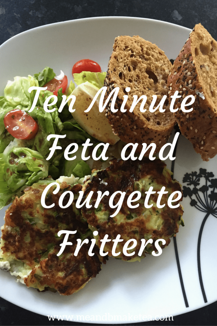 Ten Minute Feta and Courgette Fritters