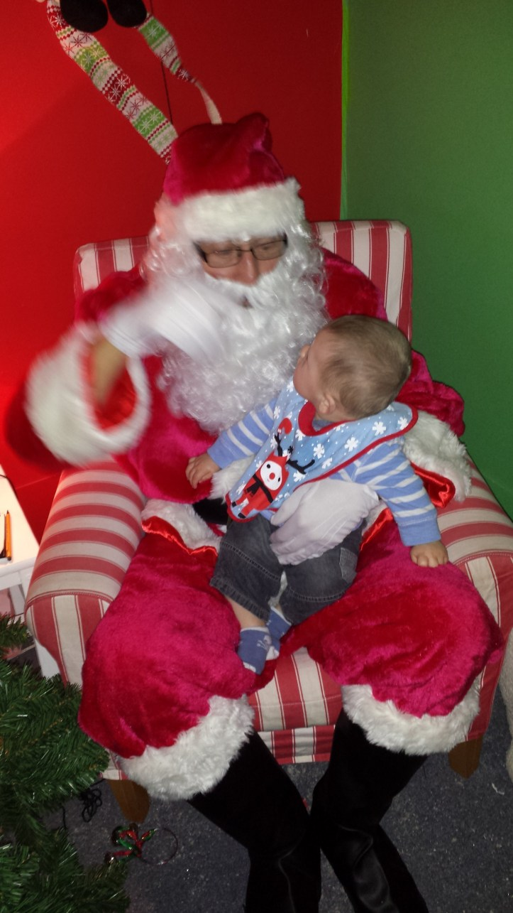 crap father christmas and baby photo what to expect santa visit reviews