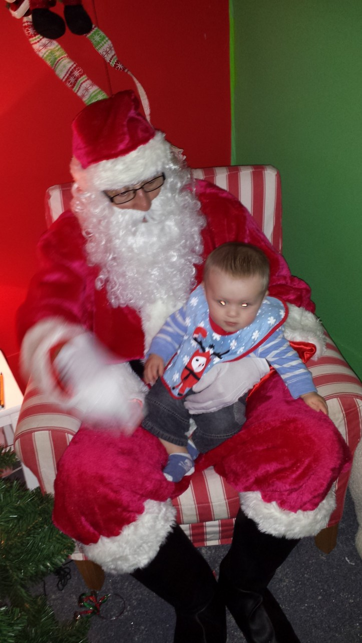 visiting father christmas santa claus with a baby toddler reviews best pros and cons too young ?