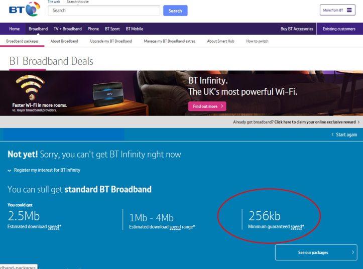 BT open reach broadband speed test weston super mare UK average digital targets fibre