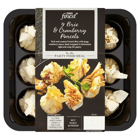 bried and cranberry parcels tesco finest range
