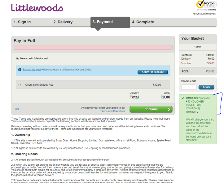 littlewoods review charge pros cons problems customer service