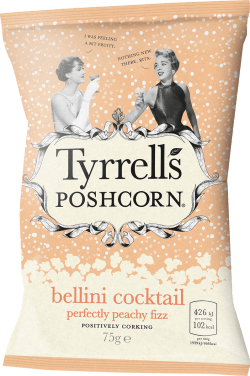 tyrrels poshcorn bellini fizz review taste christmas party
