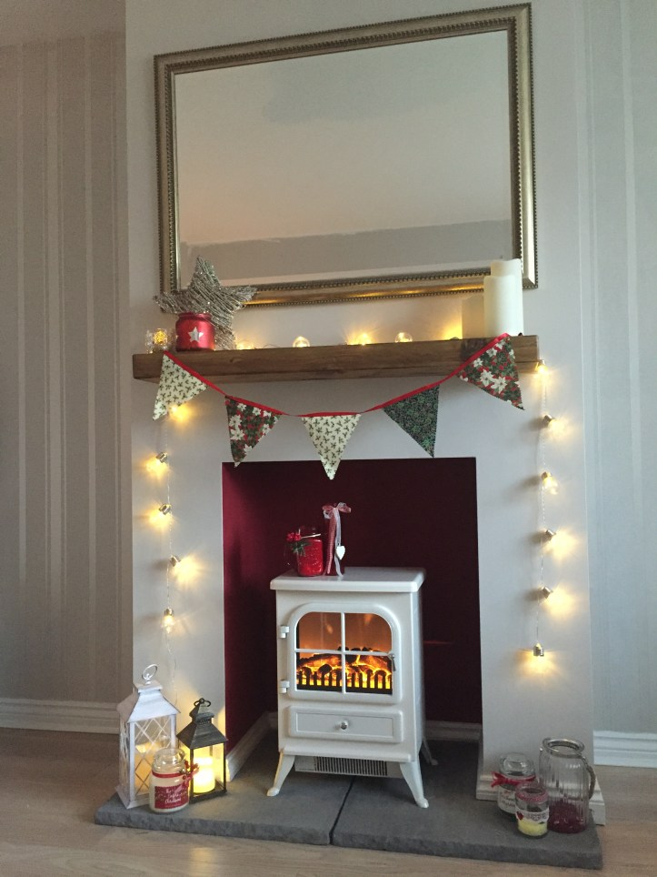 how to make your house a home hygge budget warm vintage shabby chic fireplace mantel build diy chimney fake fire burner