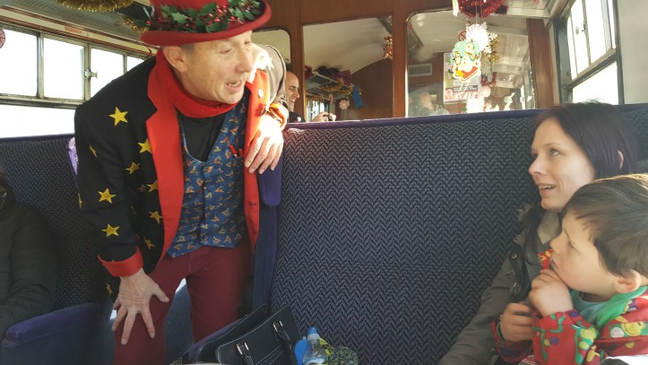 west somerset railway santa express price review experience for children toddlers family christmas things to do magician
