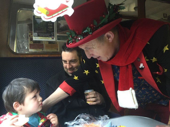 west somerset railway santa express price review experience for children toddlers family christmas things to do magician onboard santa