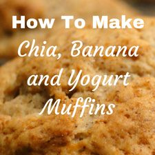 home made chia banana and yogurt muffin recipe review quick easy