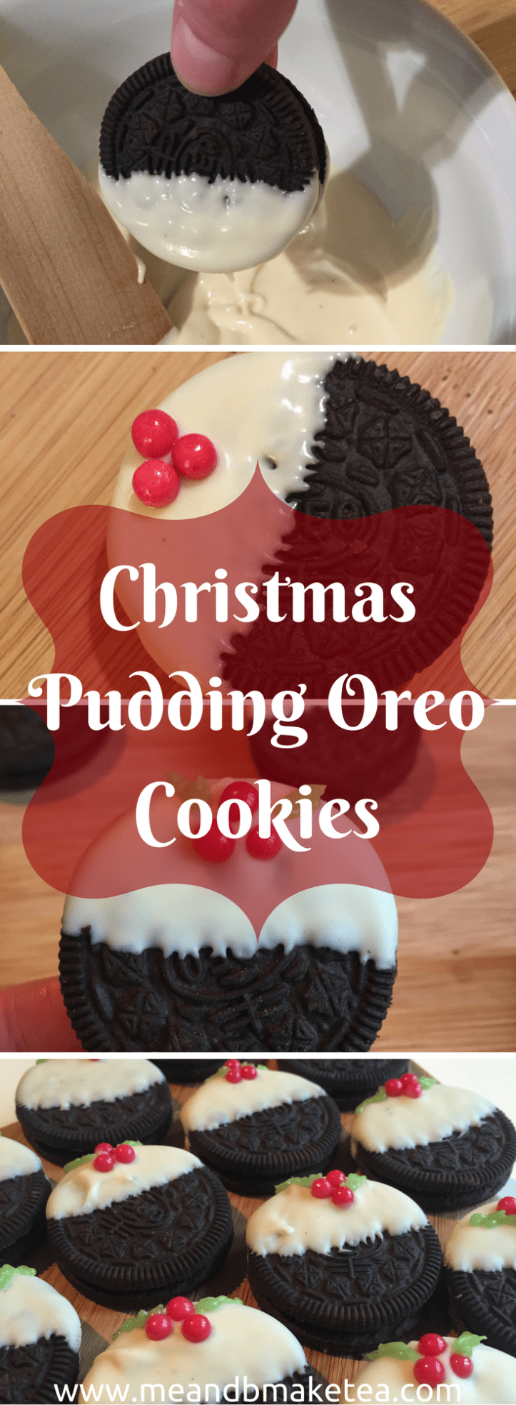 no bake oreo christmas pudding biscuits easy quick recipe review cream white chocolate how to tutorial