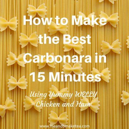 welly ham chicken food review carbonara recipe