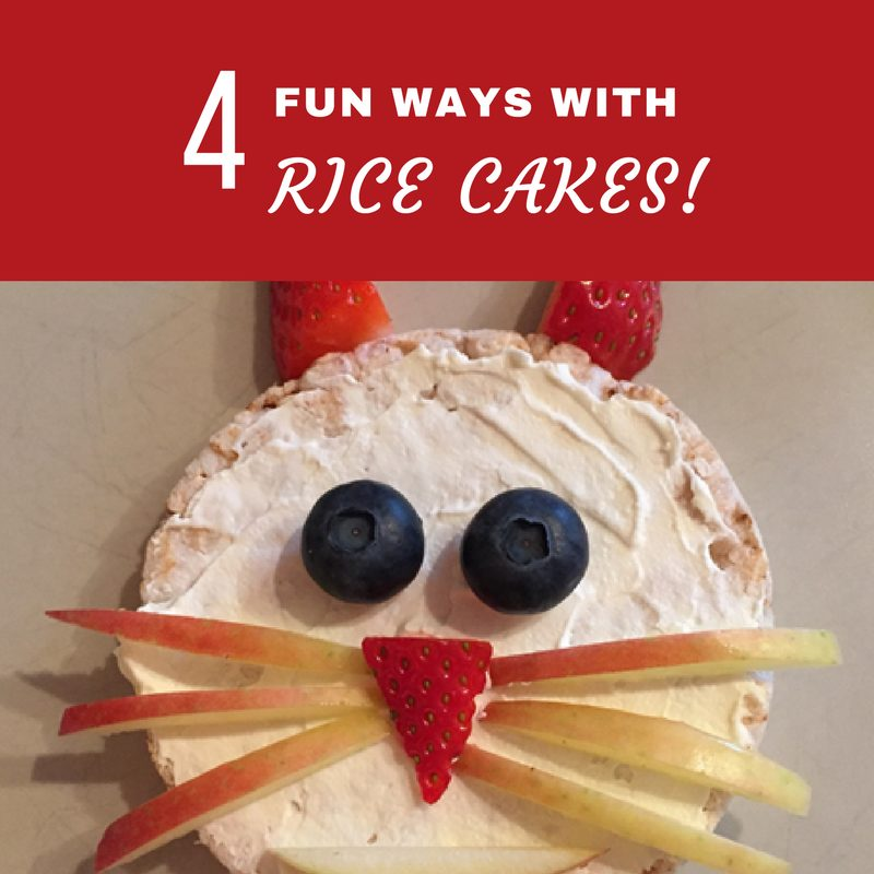 Rice cakes are great because they are so versatile! B loves them as a sweet snack and also as a savoury snack