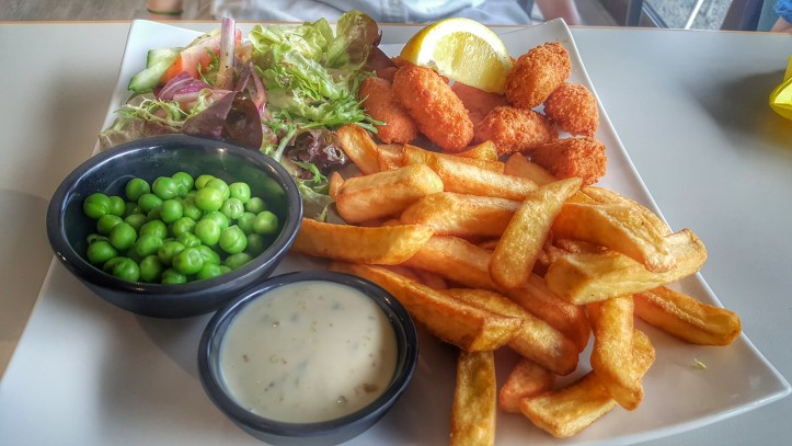 Pebbles restaurant ladram bay meal review