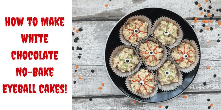 How to make White Chocolate No Bake Eyeball Cakes for Halloween Parties