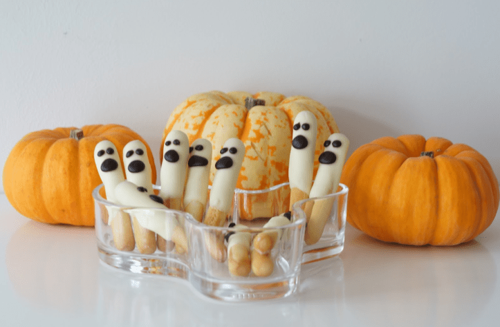 halloween white chocolate ghosts for halloween