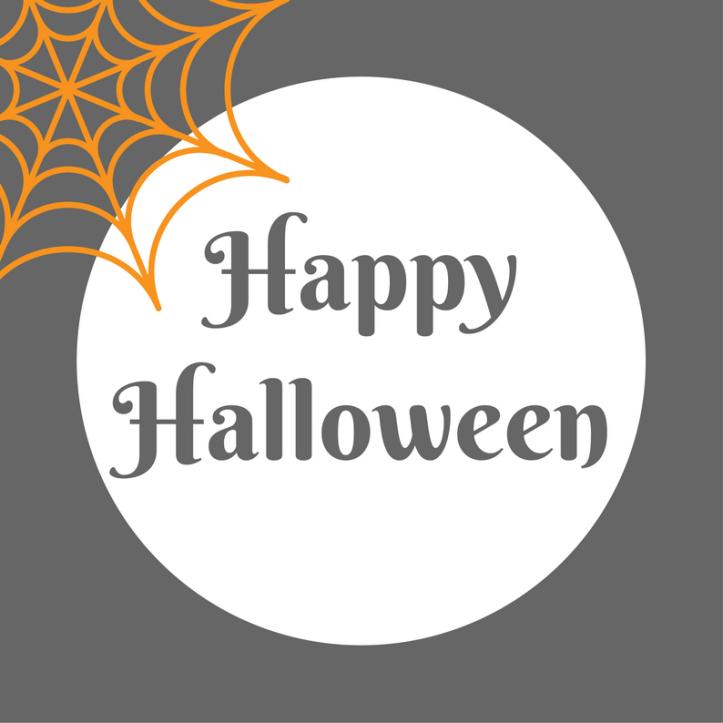 halloween printables free happy halloween text and cobweb