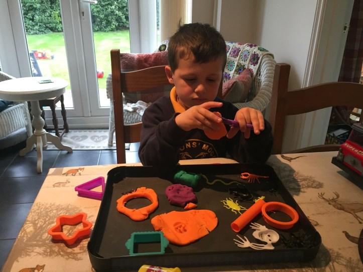 playdoh halloween sensory play ideas