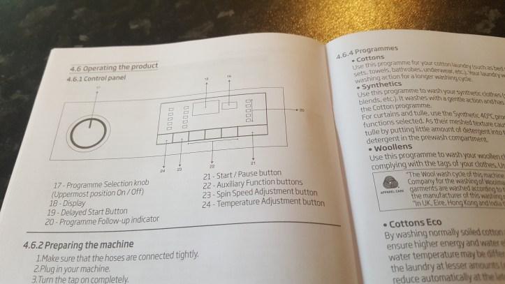Beko WR862441G 8Kg Washing Machine graphite review manual