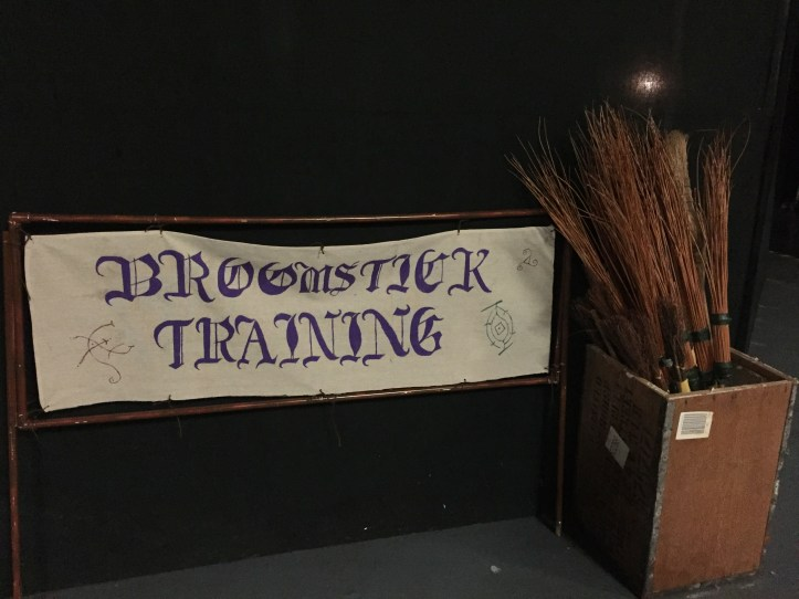Broomstick sign at the milk way devon theme park