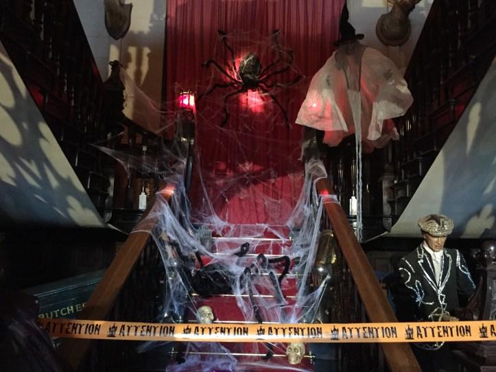 Watermouth castle theme park devon review halloween decorations in castle