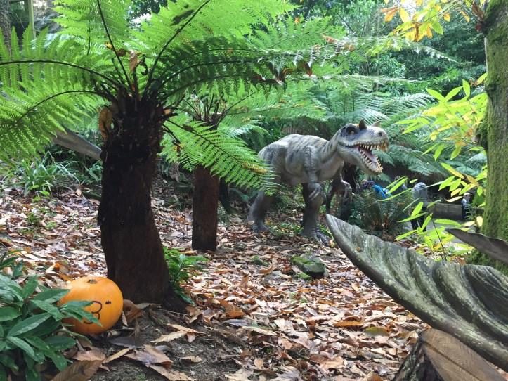 coombe martin wildlife dinosaur park animated dinosaur in forest