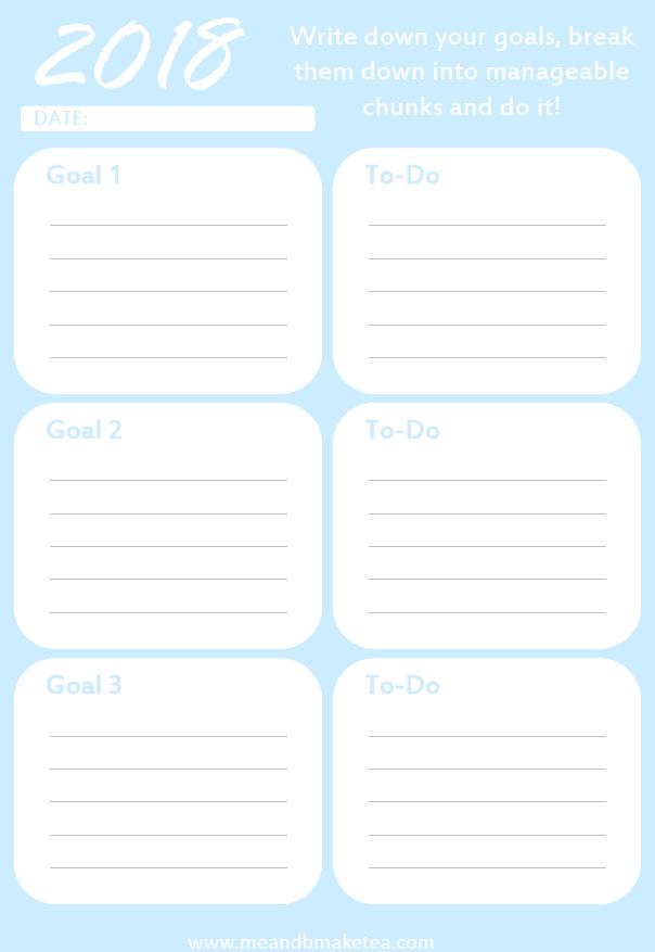 Download Blog Goal Organizer in blue