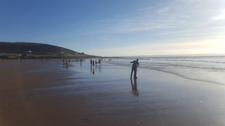croyde bay beach devon saunton sands surfing