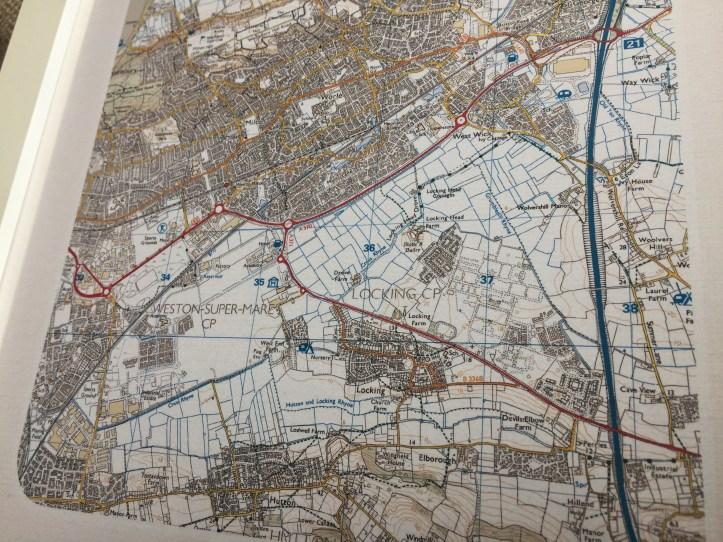 maps international postcode artwork for home using Ordnance survey map