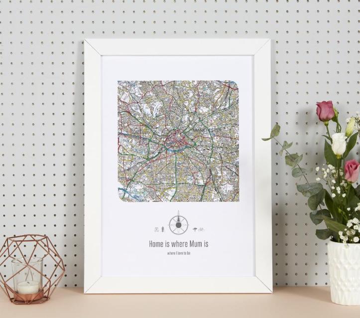 Personalised Postcode Map Print maps international gift ideas