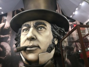 brunel head at the ss great britain museum in bristol