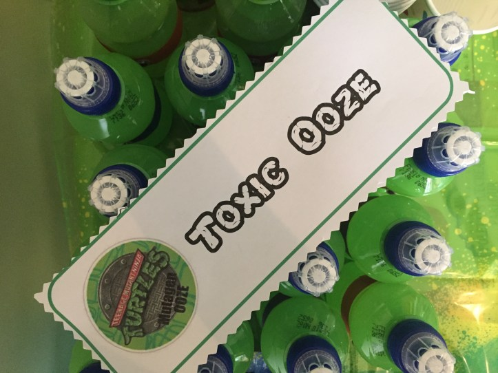 Teenage Mutant Ninja Turtle Party food ideas that are easy using the Turtles font online