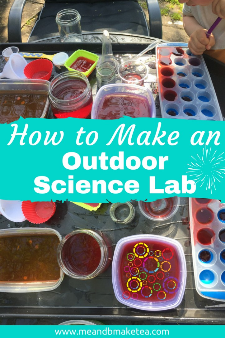 Outdoor Water Sensory Table play ideas for kids