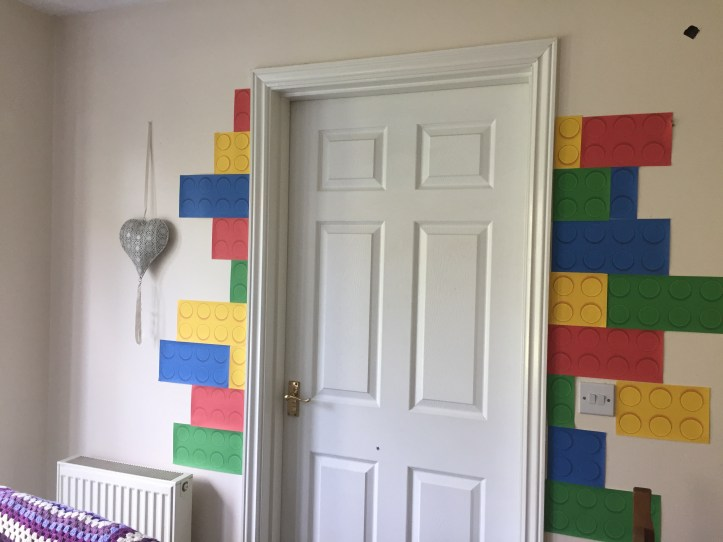 lego party decor ideas using printed block paper