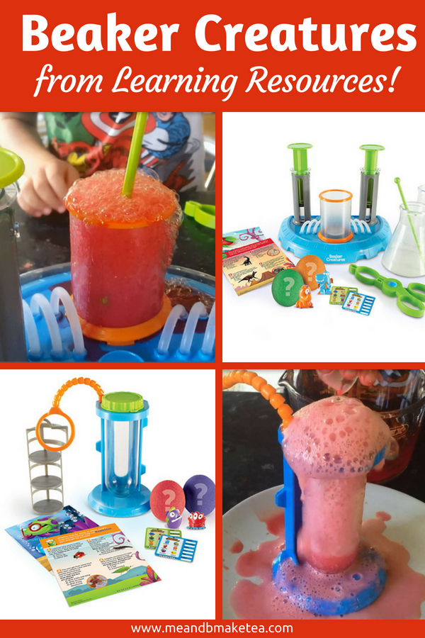 Beaker creatures from Learning Resources - review of this science STEM toys review