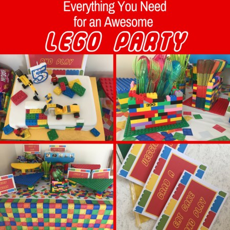 lego party decorations and food ideas for kids.