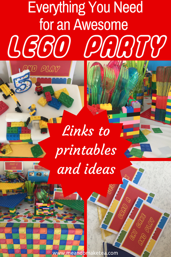 Everything you need for an awesome lego themed party