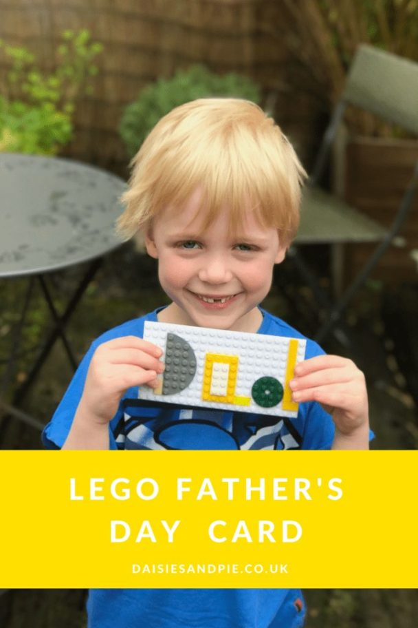 Father's Day Crafts to Make With Kids lego card