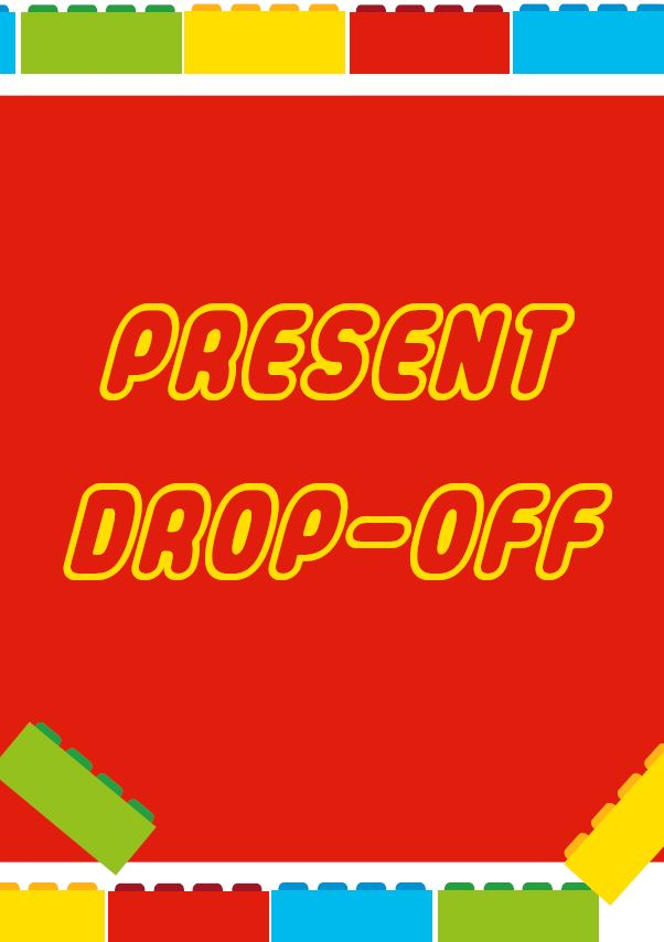 present drop off free lego party printable