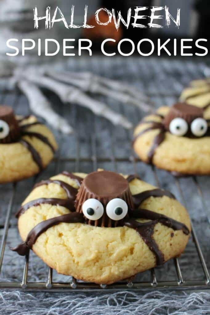 spider cookies for halloween - easy treats to make