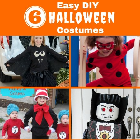 Super Easy DIY Halloween costume ideas for kids.