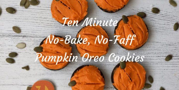 ten minute no bake oreo pumpkin Halloween treats -these are super easy!