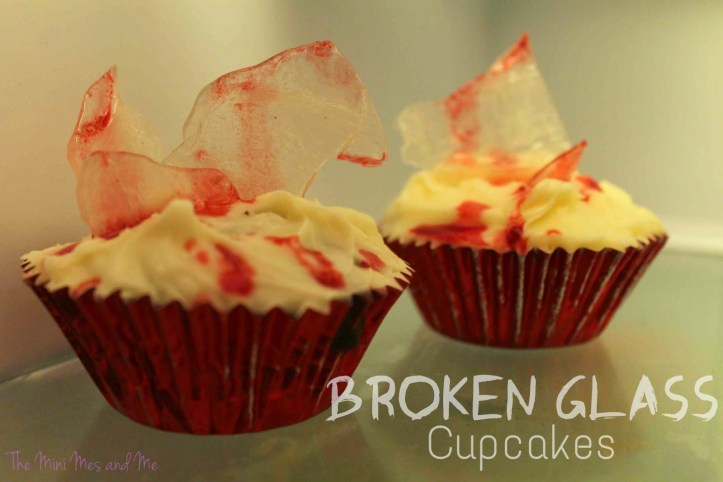 super easy sweet treats, cookies, and recipes for halloween - broken glass cupcakes