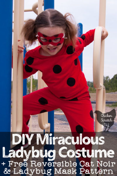 DIY ladybird ladybug fancy dress costume for halloween