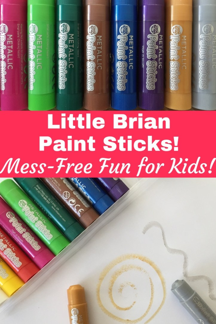 Little brian paint sticks review - mess free painting and drawing for kids