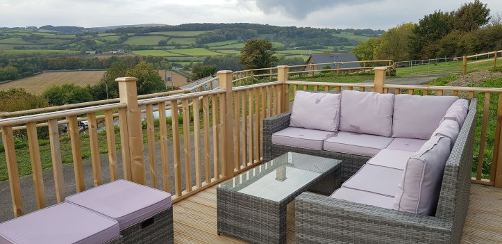 Parkers Farm Holiday Cottages & Caravans in Devon decking